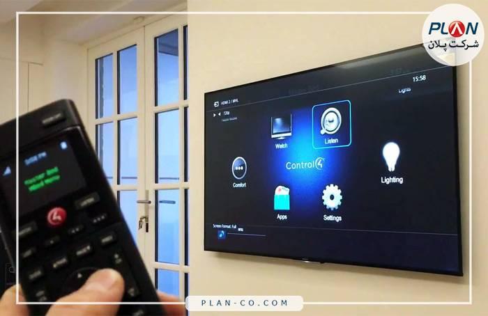 رابط کاربری خانه هوشمند صفحه تلویزیون