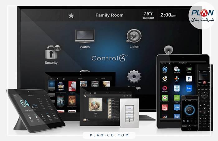 رابط کاربری خانه هوشمند CONTROL4