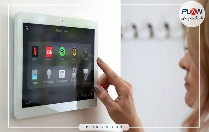 واسط کاربری خانه هوشمند صفحه لمسی دیواری Control4