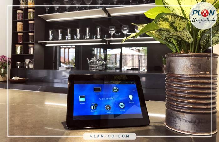 واسط کاربری خانه هوشمند صفحه لمسی Control4